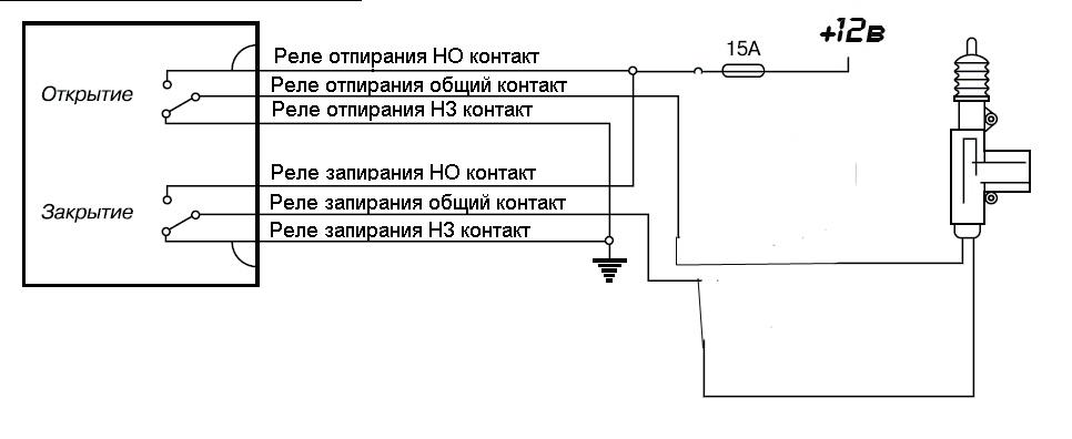 Как Подключить ЦЗ по 2м проводам к Сигнализации